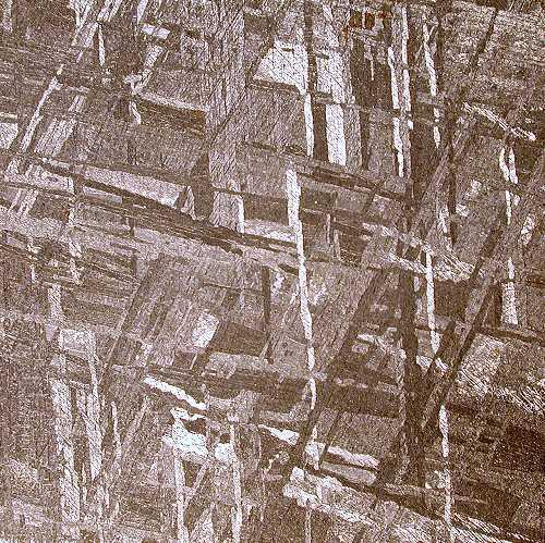 Current Lab Photo Iron Meteorite Widmanstatten Pattern Interesting Widmanstatten Pattern